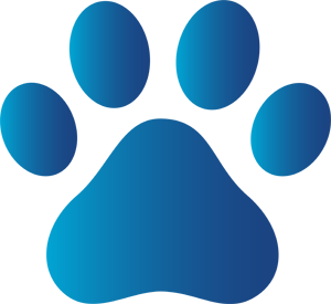 Blue Dog Paw Print